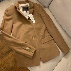 NWT J.Crew Regent Wool Flannel Blazer Sz 00